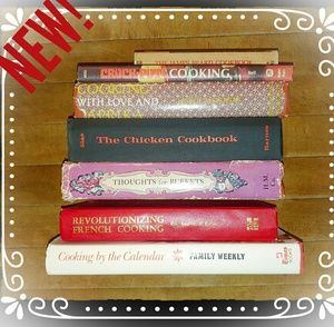 Vintage Cookbook Stack INSTANT COLLECTION Six HC